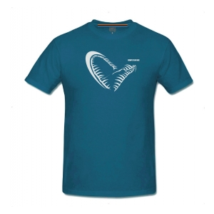 Savage Gear Rybářské triko Simply Savage Jaw Blue Tee vel. XL