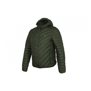 Fox International Bunda Collection Green & Silver Quilted Jacket vel. L